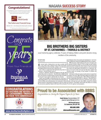 niagara success story big brothers big sisters - The Business Link ...