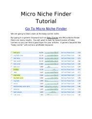 Micro Niche Finder Tutorial - Make Money Online