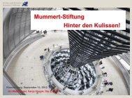 Mummert-Stiftung Hinter den Kulissen!