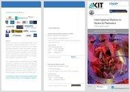 Scholarship - Karlsruhe School of Optics & Photonics - KIT