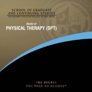 Physical TheraPy (DPT) - Richard Stockton College of New Jersey