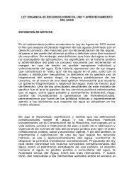 LEY ORGANICA DE RECURSOS HIDRICOS, USO Y ... - IEPALA