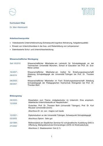 tabellarischer lebenslauf schulpdagogik - Lebenslauf Referendariat