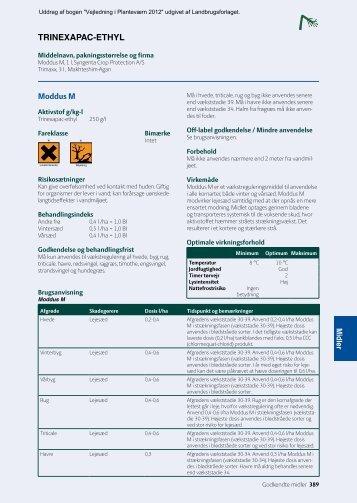 tRinExAPAc-EtHyl Moddus M - Middeldatabasen