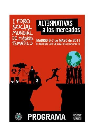 Programa 2011 I FSMMadrid Alternativas a los ... - Rojo y Negro