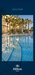 Malta Rack Brochure - Hilton Hotel in Malta
