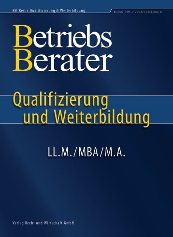 LL.M./MBA/M.A. - Betriebs-Berater
