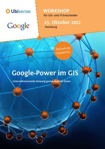 Google-power im GIs - Ubisense