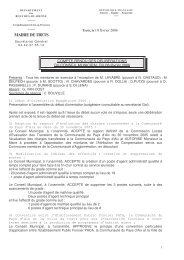 Compte Rendu Municipal du 8 février 2006