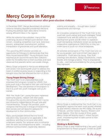 Kenya program details - Mercy Corps