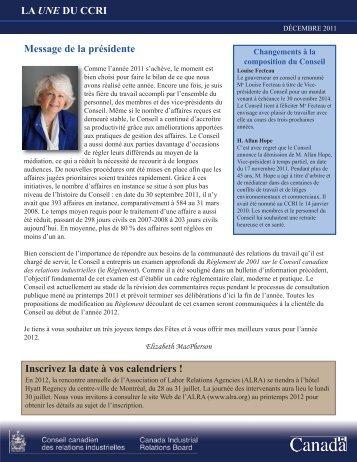 format PDF - Conseil canadien des relations industrielles