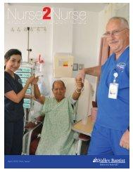 April, 2011 - VBHS Home - Valley Baptist Medical Center