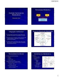 Controle Hormonal do Metabolismo