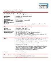 Vorarbeiter - BAU-Akademie-Nord