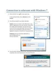 Connection to eduroam with Windows 7