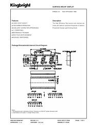 SURFACE MOUNT DISPLAY Package Dimensions& Internal Circuit ...