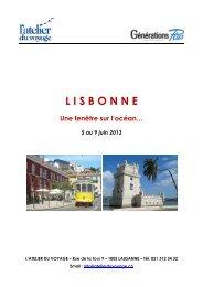 Lisbonne 05jun13 pré-inscription - Atelier du Voyage