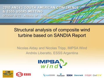 Structural analysis of composite wind turbine based on ... - ESSS