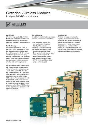 Cinterion Wireless Modules
