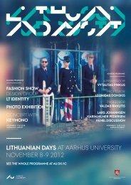 LITHUANIAN DAYS AT AARHUS UNIVERSITY NoVEmbER 8-9 2012