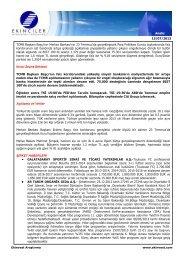 Analiz 15/07/2013 TCMB Başkanı Başçı'nın Merkez Bankası'nın 23 ...