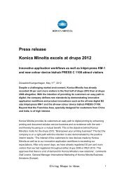 Press release Konica Minolta excels at drupa 2012