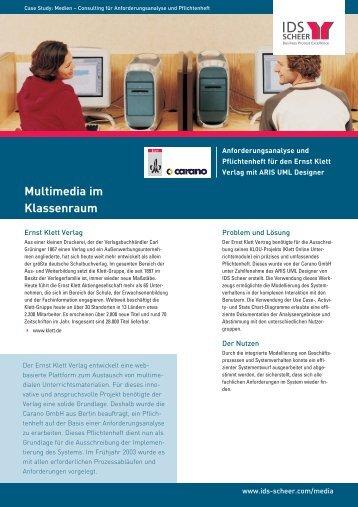 Multimedia im Klassenraum - IDS Scheer AG