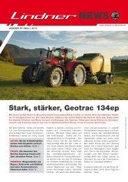 Stark, stärker, Geotrac 134ep - Lindner Traktoren