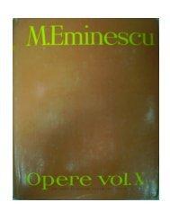 Mihai Eminescu, Opere vol X, Publicistica