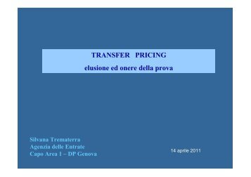 TRANSFER PRICING elusione ed onere della prova - Confindustria ...