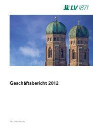 Geschäftsbericht 2012 - Lebensversicherung von 1871 a.G.
