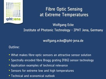 Fibre Optic Sensing at Extreme Temperatures - Eyde-nettverket