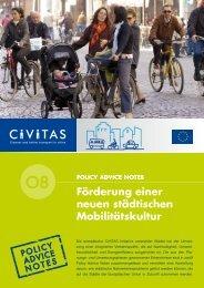 Förderung einer neuen städtischen Mobilitätskultur - civitas