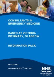 victoria infirmary, glasgow 2 posts (ref: 23254d) - NHS Greater ...