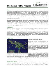 The Papua REDD Project - Forest Climate Center
