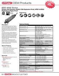 4000: Programmable, CSA, ATEX, IEC Ex. Proof - HYDAC USA