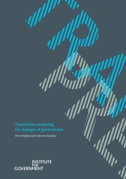Transitions: preparing for changes of government - Management ...