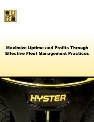 Hyster Fleet Management - New Equipment Digest
