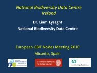 National Biodiversity Data Centre. Ireland presentation by ... - Gbif.es
