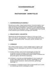 husordensregler for rastaskogen borettslag - Herborvi.no