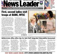 First, second ladies visit troops at BAMC, WFSC - Fort Sam Houston