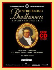 Beethoven Teacher Resource kit - ArtsAlive.ca