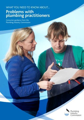 Problems with plumbing practitioners - Plumbing Industry Commission