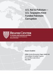 US Aid to Pakistan—US Taxpayers Have Funded - Belfer Center for ...