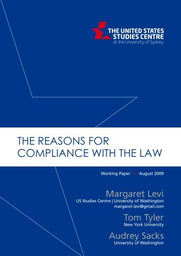 The ReASONS FOR COMPLIANCe WITh The LAW - United States ...