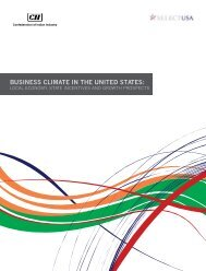 BUSINESS CLIMATE IN THE UNITED STATES: