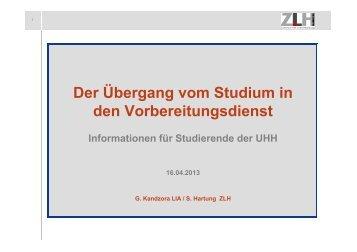 Vortrag Sascha Hartung - ZLH-Hamburg