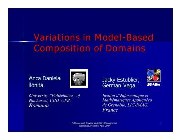 Variations in Model-Based Composition of Domains - SoberIT