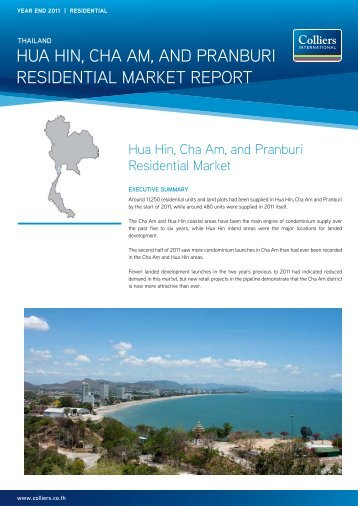 Hua Hin, CHa am, and Pranburi residential marKet rePort - Colliers