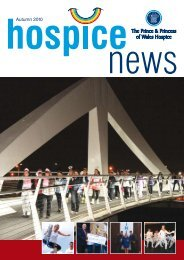 Autumn 2010 - the Prince and Princess of Wales Hospice